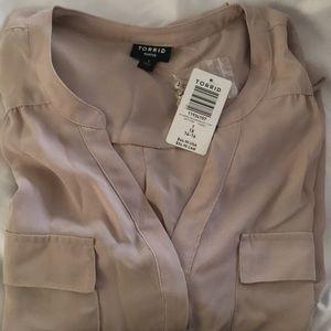 Torrid Harper Shirt-Taupe